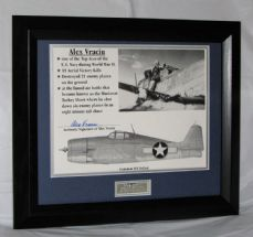 "A312AV ALEX VRACIU - ""WWII FLYING ACE"" SIGNED"